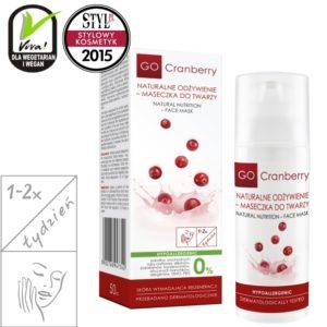 Naturalne Odżywienie Maseczka do Twarzy GoCranberry 50ml