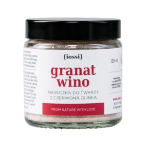 Maseczka granat i wino z czerwoną glinką 120ml