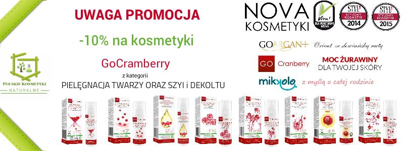 Promocja pielęgnacja twarzy szyi i dekoltu kremy z serii gocranberry