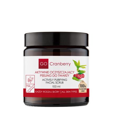 aktywnie oczyszczajacy peeling do twarzy gocranberry 100 ml